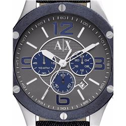 NEW ARMANI EXCHANGE TRIPLE CHRONO 44MM WATCH