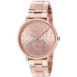 NEW MICHAEL KORS ROSE GOLD TONE CRYSTAL DIAL WATCH