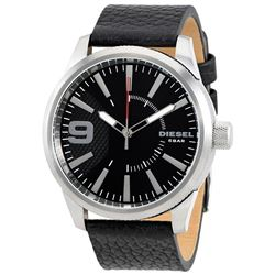 NEW DIESEL BLACK DIAL MEN'S WATCH MSRP $199