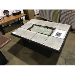 "NAPA VALLEY RECTANGULAR 38"" X 50"" PROPANE FIRE PIT TABLE WITH CERAMIC TILE"