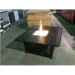 "CLIFFSIDE SQUARE 48"" CAST ALUMINUM PROPANE OUTDOOR FIRE TABLE"