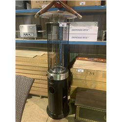 PARAMOUNT PH-F-122 BLACK PROPANE SPIRAL FLAME TUNNEL OUTDOOR PATIO HEATER
