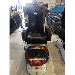 GULFSTREAM INC. AQUA SPA MODEL: RAINBOW  MASSAGE CHAIR AND JET WATER FOOT BATH