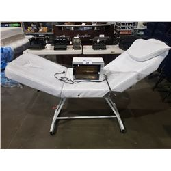 FULLY ADJUSTABLE MASSAGE TABLE & DERMALOGIC DL-209 UV STERILIZER