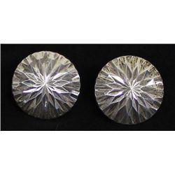 Diamond Cut Sterling Silver Earrings