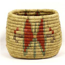 Vintage Inuit Eskimo Pictorial Butterfly Basket