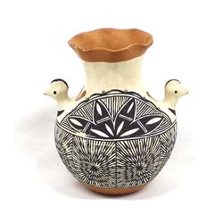 Vintage Acoma Pottery Turkey Vase by I. Chino