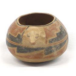 Historic Casas Grandes Pottery Effigy Bowl