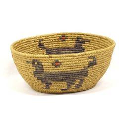 Vintage Tohono O'odham Pictorial Basket