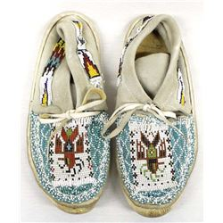 Navajo Trading Post Beaded Leather Moccasins