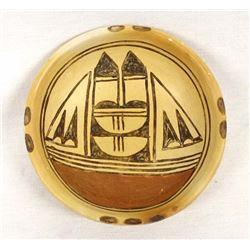 Historic Hopi Pottery Shallow Bowl