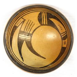 Historic Native American Hopi Pottery Bowl