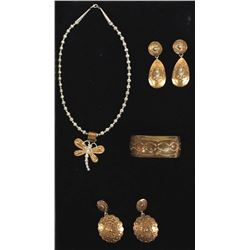 Collection of Native American Copper Jewelry