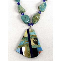 Native American Turquoise Nugget Pendant Necklace