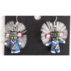 Miniature Hopi Kachina Earrings, Loretta Multine