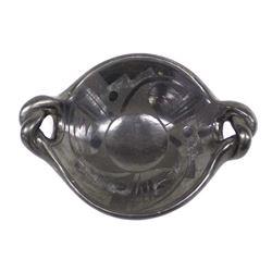 Historic Santa Clara Matte on Black Pottery Bowl