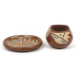 2 Pieces of Native American Santa Clara Pottery