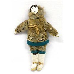 Antique Northwest Coast Eskimo Doll