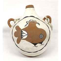 Native American Zia Pueblo Pottery Canteen