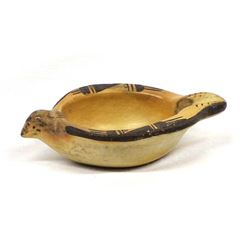 Historic Native American Hopi Bird Pottery Bowl