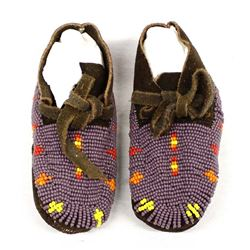 Native American Sioux Beaded Child's Moccasins