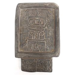 Pre Colombian Mayan Carved Stone Snuff Tablet