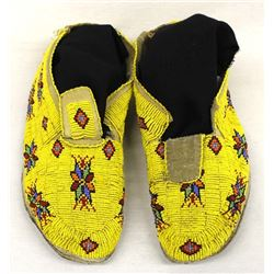 Native American Kiowa Beaded Moccasins