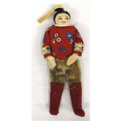 Antique Northwest Coast Eskimo Cloth Doll