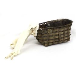 Antique Northwest Coast Eskimo Baby Doll Basket