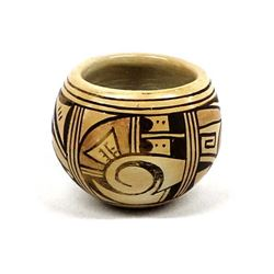 Hopi Pottery Bowl by Bessie Namoki