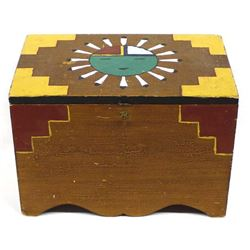 Vintage Hand Crafted Wooden Chest
