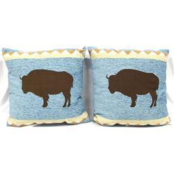 2 Southwest Buffalo Throw Pillows