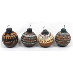 4 Native American Navajo Pottery Ornaments