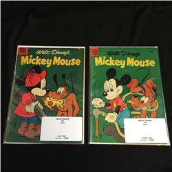 1950s MICKEY MOUSE COMIC BOOK LOT (DELL COMICS)
