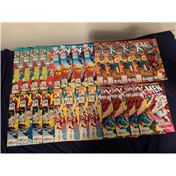 X-MEN COMIC BOOK LOT (MARVEL COMICS) #296, 297, 298, 306, 307, 308 (4 OF EACH TITLE)