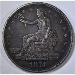 1874 TRADE DOLLAR XF