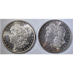 1879-S & 1881-O MORGAN DOLLARS CH BU
