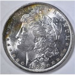 1883-O MORGAN DOLLAR CH BU RAINBOW