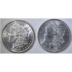 2 1888-O MORGAN DOLLARS CH BU