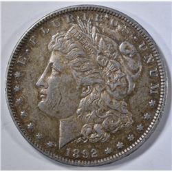 1892 MORGAN DOLLAR AU