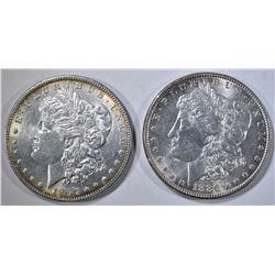 1886 & 1897 MORGAN DOLLARS CH BU