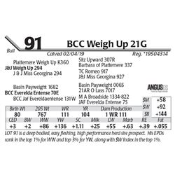 BCC Weigh Up 21G