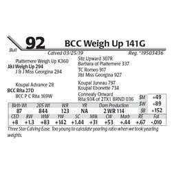 BCC Weigh Up 141G
