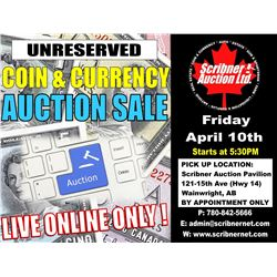 Session 1 : Coin & Currency Auction : April 10th 2020  - LIVE ONLINE ONLY !