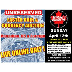 Coin & Currency Auction : April 12th 2020  - LIVE ONLINE ONLY !