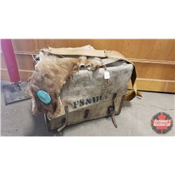 Pack Saddle Box & Fur Mountain Man Satchel