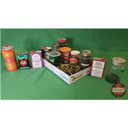 Tray Lot: Variety of Gun Powder & Black Powder (Partial Containers) + Variety of Brass !