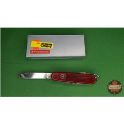 Knife: Victorinox Swiss Army Knife (Translucent Red)