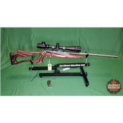 Rifle: Savage Mark II 22LR Bolt - Laminated Stock w/BSA Scope 4-16x40IR & Extra Clip S/N#1508246
