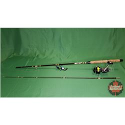 REEL: Garcia Mitchell 510 (Blue) w/Stand (S/N#799583) + 7ft Rod
